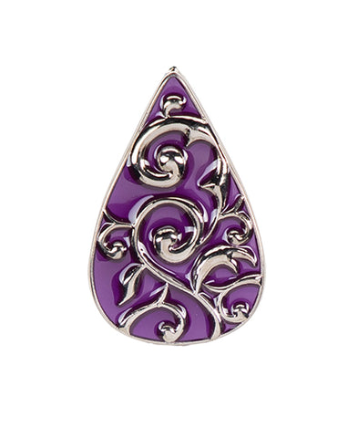 *Small Spaces* Violet Teardrop (SKU: 01A-058)