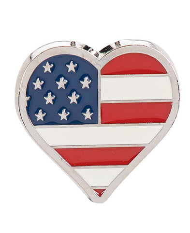 *Small Spaces* American Flag Heart (SKU: 01A-049)