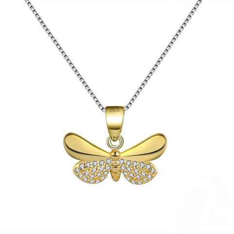 butterfly charm necklace , silver necklace , golden butterfly pendant necklace