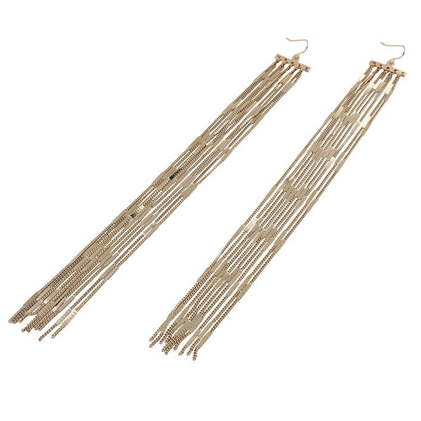 Super Trendy Boho Style long Drop Chain Earrings are a must have for this years Jewellery collection. These long drop earrings are Vintage and Stylish with a touch of elegance. perfect for engagement , birthday , party , dinner , wedding.