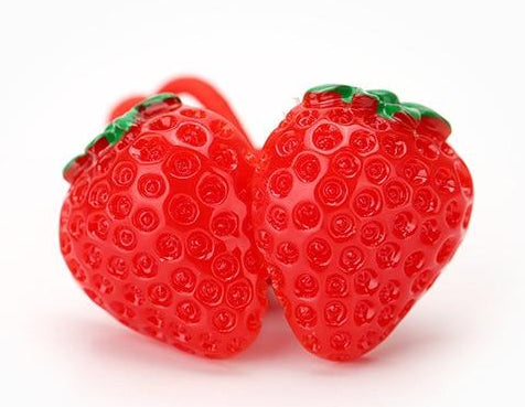 red strawberry hairband