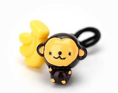 cute monkey banana hairband