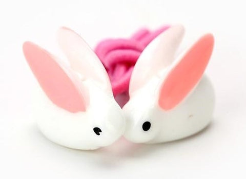 Cute White and Pink Rabbit Bunny Hair Bands