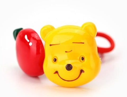 yellow and red pooh cartoon hair bands