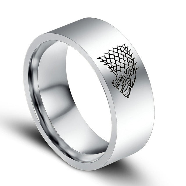 Stainless Steel Game Of Thrones Ring For Men