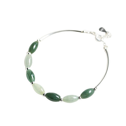 green jade bracelet , jade stone bracelet , wedding gift , bracelet , mother's day gift