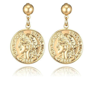 Vintage coin pendant drop earrings are the fashion statement for 2019. They are super classy and elegant that will give your look style with standard. Perfect for party , birthday , gift , dinner , engagement or date night.