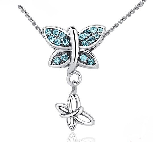 butterfly pendant necklace , mother's day gift