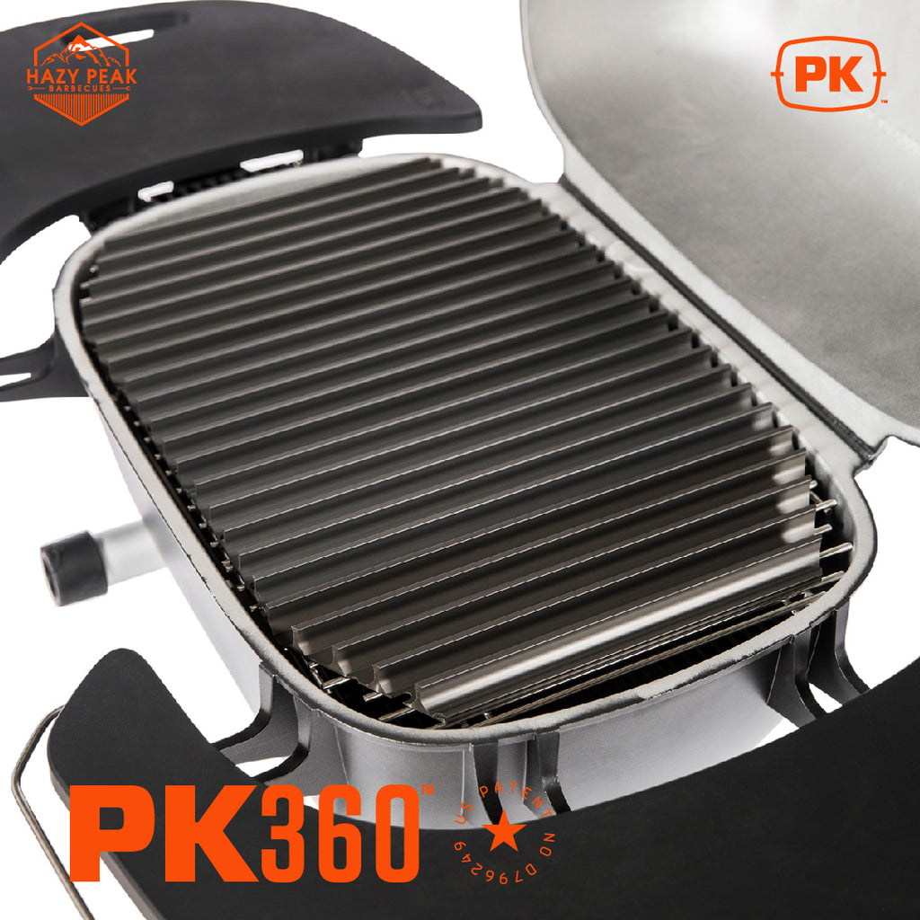 Close up shot of PK Grill PK360 Grill griddle
