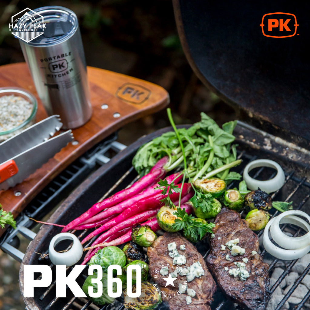 Picture of delcious grilled food on a PK Grill