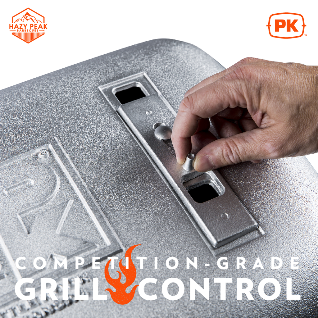 Original PK Grill in Silver with the caption Competition Grade Grill Control
