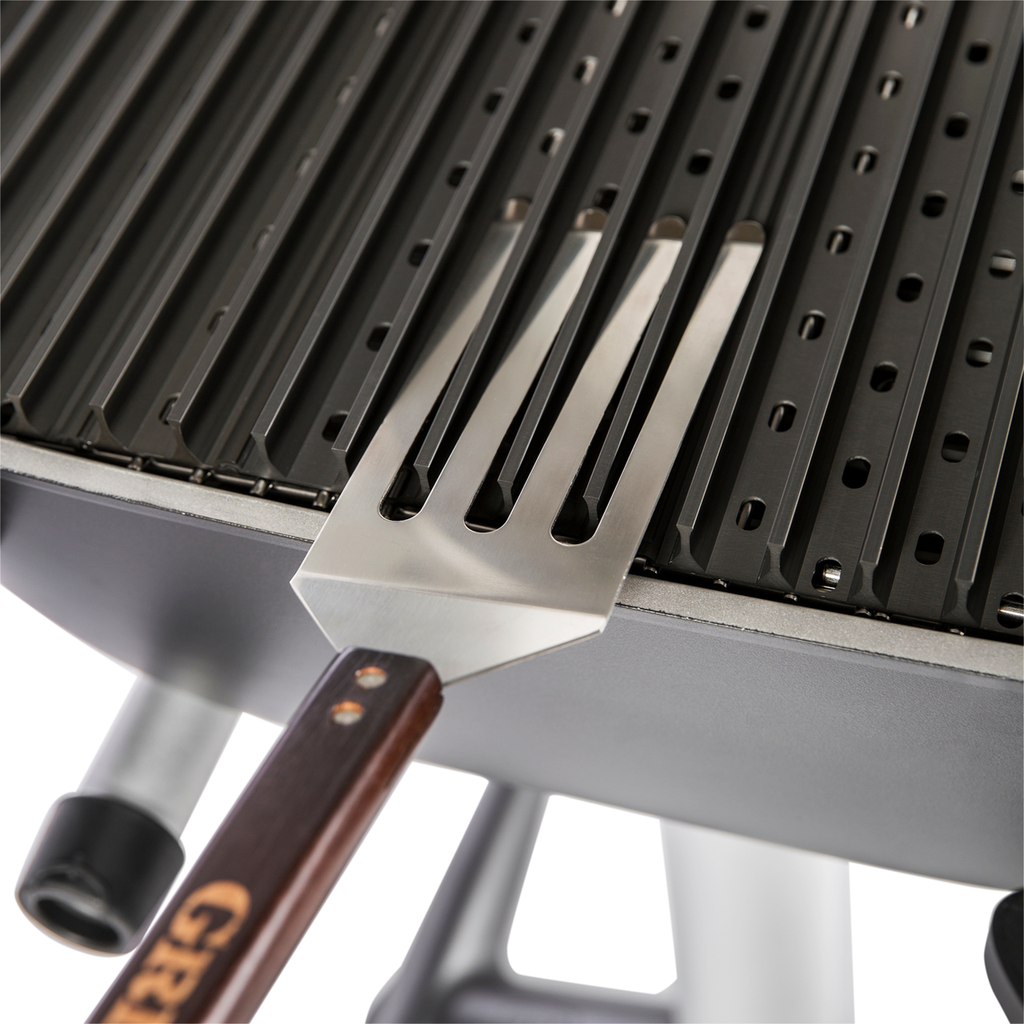 PK360 Grill Grates pictured with optional GrateTool