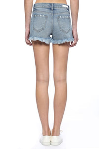 High Rise Shorts w. Fray Hem
