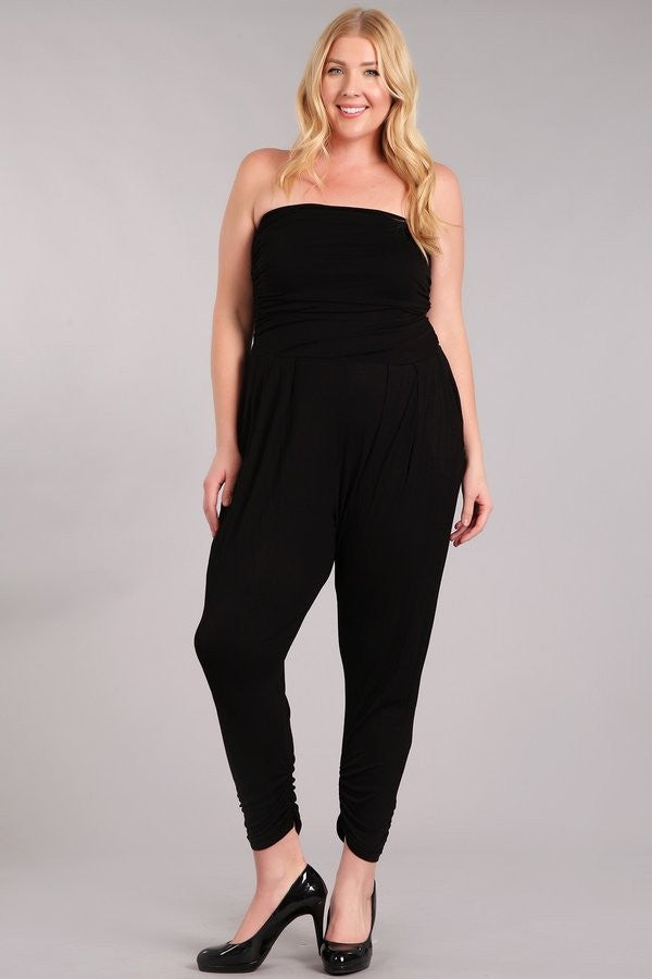 Strapless Jumpsuit-Black