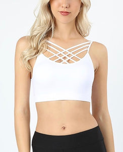 SEAMLESS TRIPLE CRISS-CROSS BRALETTE