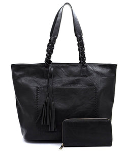 Braided Top Handle 2-in-1 Shopper