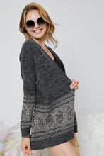 Load image into Gallery viewer, Aztec Print Knit Sweater Cardigan
