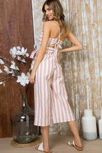 Load image into Gallery viewer, WAIST BELT WITH SIDE POCKET BACK BOW TIE JUMPSUIT