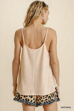 Load image into Gallery viewer, Spaghetti Strap V-Neck Waffle Knit Top