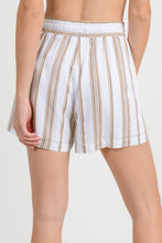 Load image into Gallery viewer, Eva Striped Shorts- Taupe