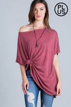Load image into Gallery viewer, Short Sleeve Mineral Wash Loose Fit Top