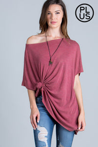 Short Sleeve Mineral Wash Loose Fit Top