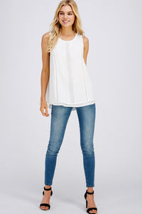 Multi Layer Solid Sleeveless Top