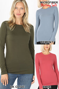 Microfiber Long Sleeve V Neck Tee