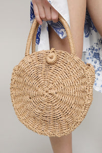 URBANISTA ROUND STRAW CROSS BODY