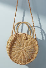 Load image into Gallery viewer, URBANISTA ROUND STRAW CROSS BODY