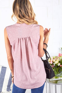 Printed Woven Sleeveless Blouse