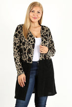 Load image into Gallery viewer, Leopard Print Colorblock Cardigan