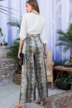 Load image into Gallery viewer, Snake Skin Pants with Contrast Top Jumpsuit