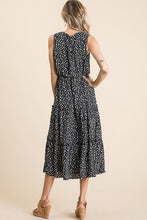 Load image into Gallery viewer, A woven leopard print sleeveless midi dres