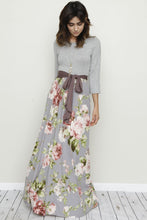 Load image into Gallery viewer, Floral Sash Maxi Dress