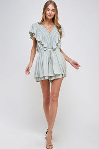Double Layer Solid Romper