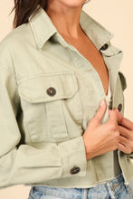 Load image into Gallery viewer, BUTTON DOWN JACKET WITH DOUBLE FRONT POCKETS