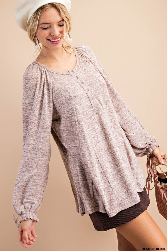 Billowy Sleeve Relaxed Fit Tunic