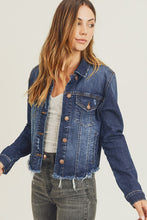 Load image into Gallery viewer, Frayed Hem Washed Jacket