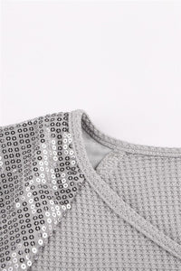 Gray Sequined Shirt