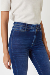 High Rise Waist Band Detail Flare