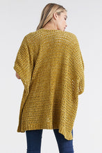 Load image into Gallery viewer, EMERALD CHENILLE HONEYCOMB KIMONO