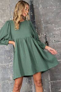 LONG SLEEVE BABYDOLL DRESS