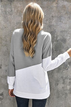 Load image into Gallery viewer, Patchwork Dropped Shoulder Sleeve Sweatshirt