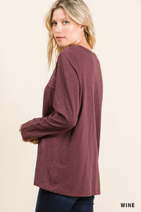Washed Cotton Slub Top
