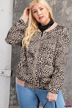 Load image into Gallery viewer, LEOPARD BOMBER JACKET WITH POCKETS