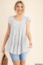 Load image into Gallery viewer, RAYON CHALLIS IRREGULAR DOT BABYDOLL RUFFLE