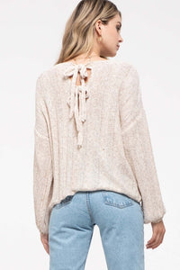 Texture Knit Sweater Top