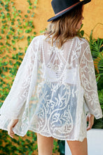 Load image into Gallery viewer, CROCHET LONG SLEEVE KIMONO