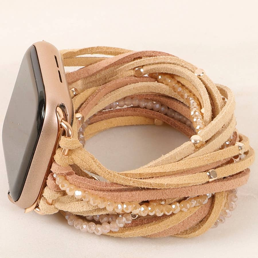 Large Multi layered  Apple Watch suede leather band